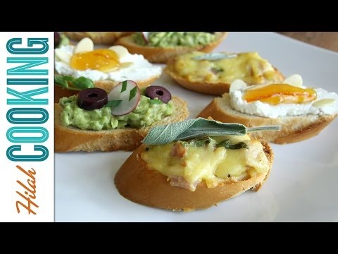 How to Make Crostini - 3 ways! |  Hilah Cooking