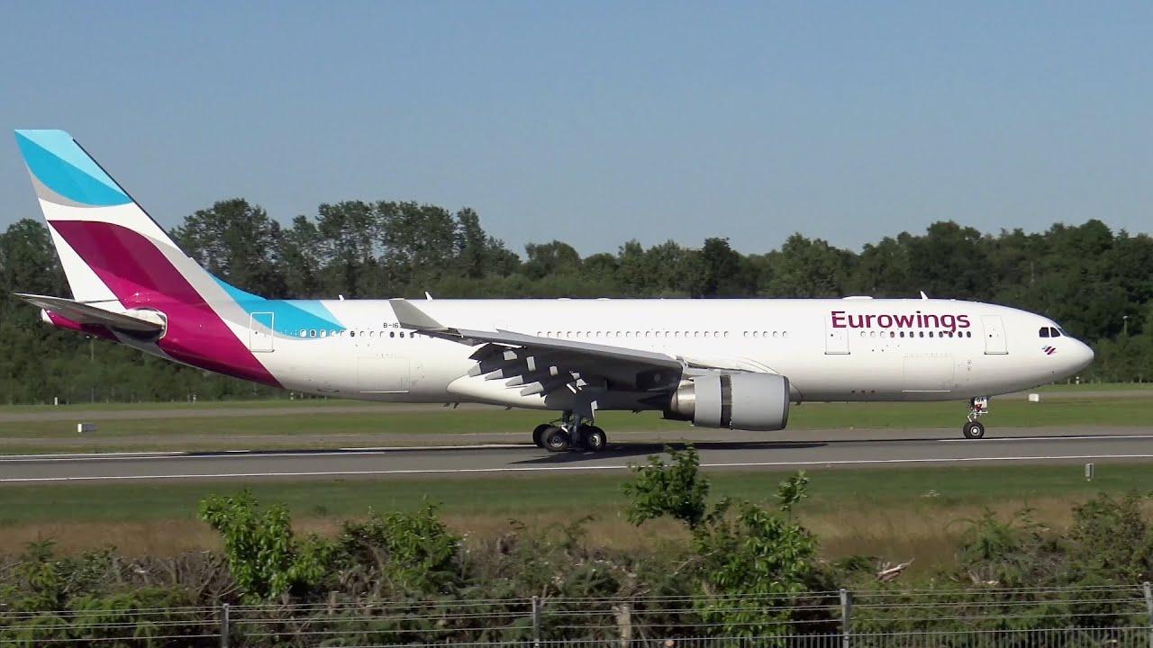 First Eurowings Airbus A330 Landing At Hamburg Airport