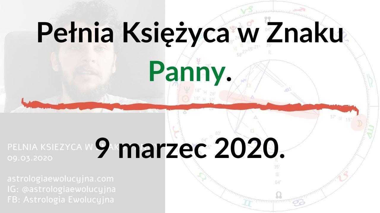 Pełnia Księżyca w Znaku Panny.