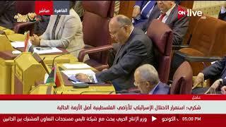 كلمة وزير خارجية مصر خلال الاجتماع الطارئ لوزراء الخارجية العرب بشأن الوضع بالأراضي المحتلة