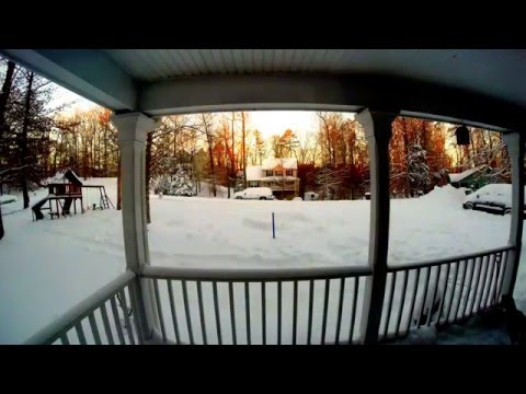Blizzard Jonas Central Virginia 3 Day Timelapse 2016
