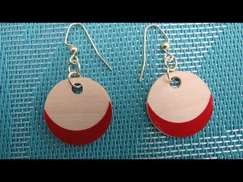 Cricut Project: Earrings out of Bass Wood