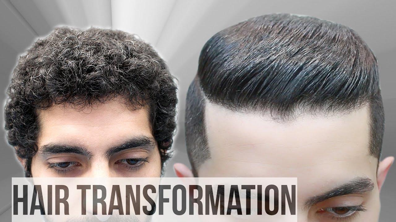 curly hair transformation - natural hair tutorial ★ best haircut for men 2018