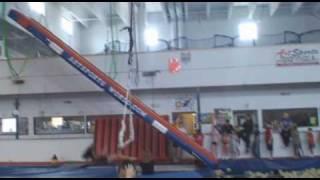 Triple Back Flip off Russian Swing & Air Mats, Trampoline World.co