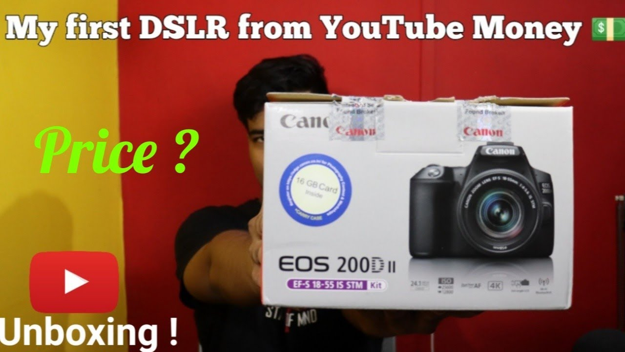 My first DSLR from YouTube Money 💵 ⚡⚡ | Canon EOS 200D Mark II