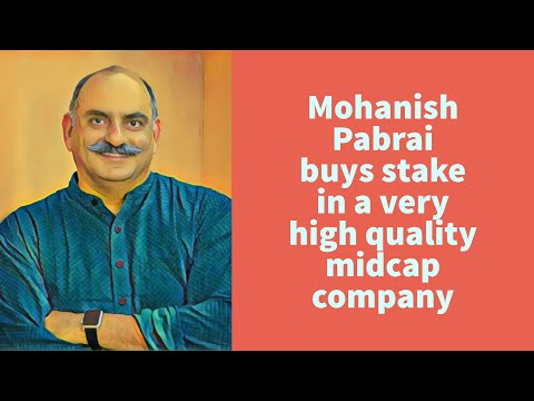 Mohanish Pabrai buys stake in a very high quality midcap company