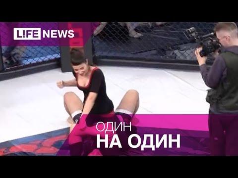 Телеведущая выходит на ринг