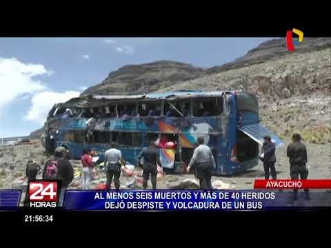 Ayacucho: accidente de bus provoca la muerte de 6 personas