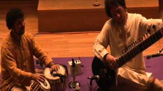 Kinnar Seen & Samir Chatterjee indian classical music concert at Monroe College, NY