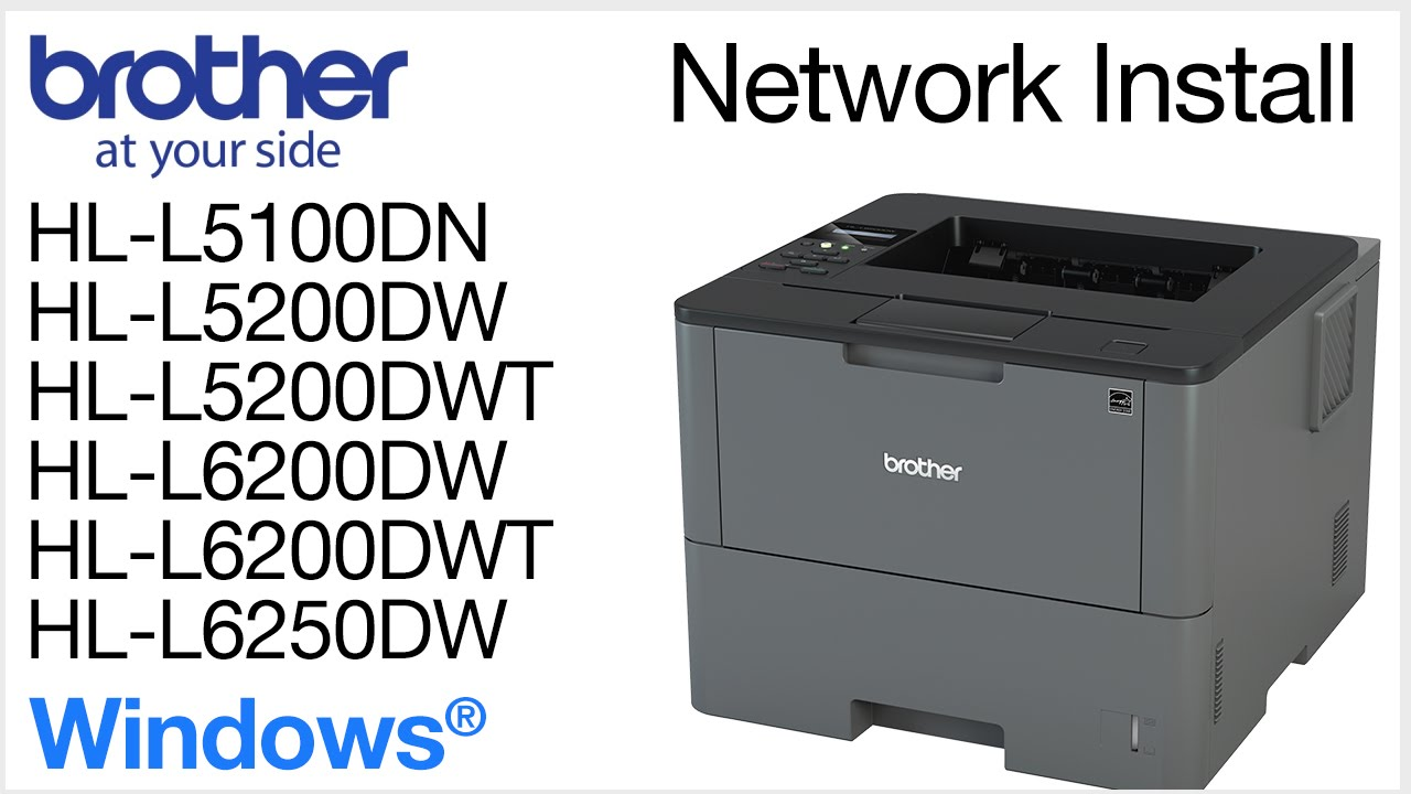 Installing HLL5200DW or HLL6200DW on a wired network - Windows ...