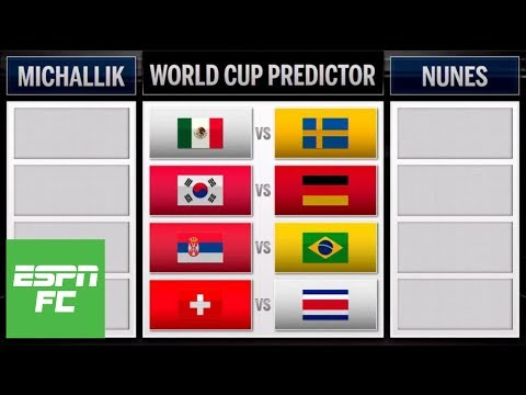 2018 World Cup predictions: Mexico vs. Sweden, Brazil vs. Serbia, Germany vs. South Korea | ESPN FC