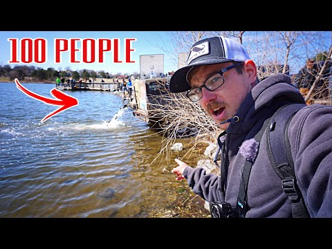 4,000 Fish STOCKED - Then I Used Them For BAIT!!! (Biggest Of The Year)