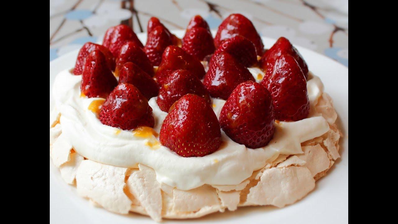 Pavlova - Fresh Strawberry Pavlova Recipe - Easter Dessert Special ...