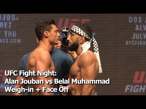 UFC Fight Night: Alan Jouban vs Belal Muhammad Weigh-in + Face Off