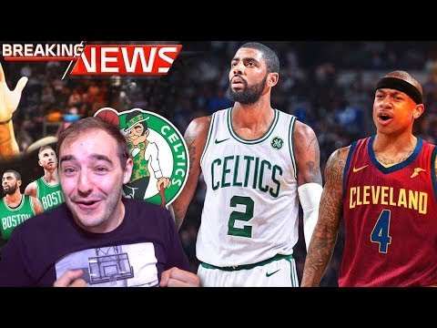 KYRIE IRVING TRADED TO THE BOSTON CELTICS! CELTICS FAN REACTION! WOOOOOOO!