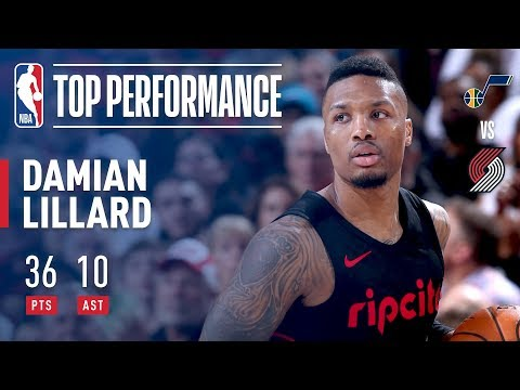 Dame Caps Off The Regular Season With A Strong Performance! 36 and 10!