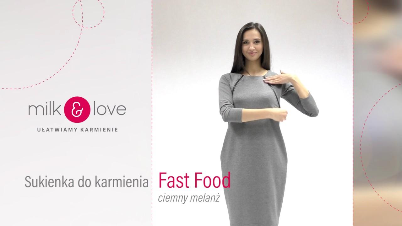 4cf6b11bb8768a milk & love   Szara sukienka do karmienia piersią   Fast Food - YouTube