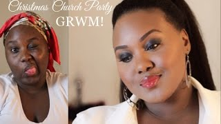 Christmas Church Party GRWM | Makeup and Ponytail with Kinky Clip-In Extensions Thumbnail