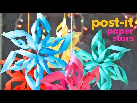 Post -It Note Paper Stars