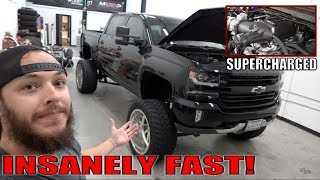 SUPERCHARGED LIFTED SILVERADO WALKAROUND!
