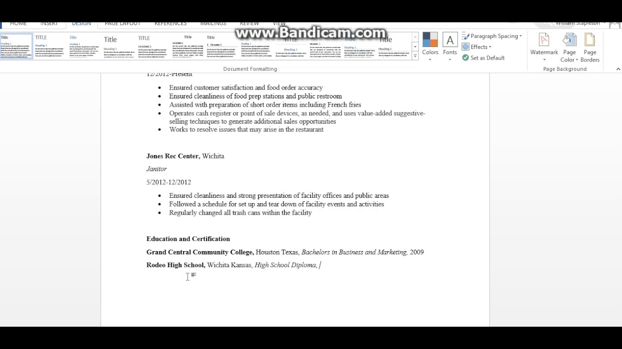 how to write an education section on a resume - How To Write An Education Resume