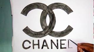 How to draw the Chanel logo with watercolor