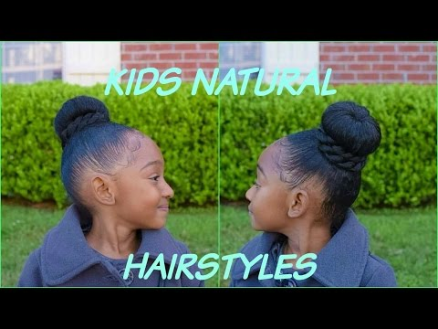 KIDS NATURAL HAIRSTYLES THE FAUX BUN