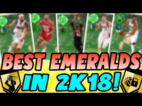 NBA 2K18 MYTEAM THE BEST EMERALD CARDS IN THE GAME! MUST HAVES FOR SUPER MAX!