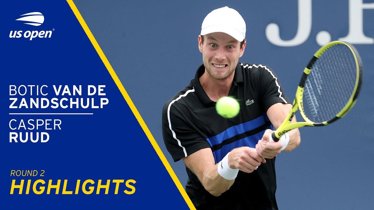 Botic Van De Zandschulp vs Casper Ruud Highlights | 2021 US Open Round 2 -  YouTube