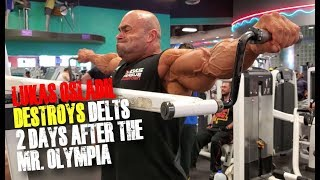 LUKAS OSLADIL DESTROY DELTS 2 DAYS AFTER THE MR. OLYMPIA.
