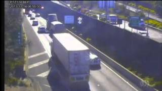 CCTV footage shows truck crashing into roof of M5 tunnel Thumbnail