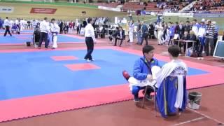Taekwondo ITF Максим Фу - Борис Баглаев спарринг -57 кг Кубок СНГ Таэквондо ИТФ Минск 2014