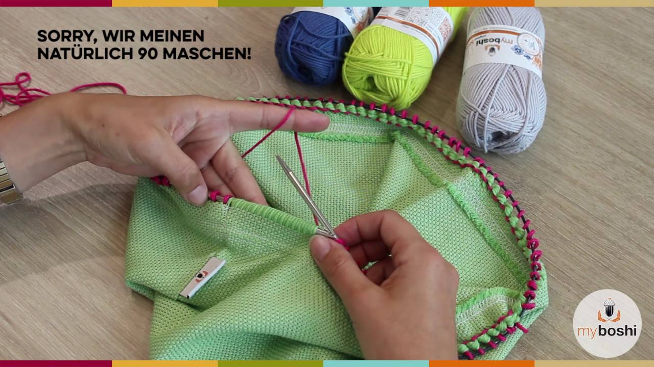Myboshi Webloop Stricken Mit Dem Loop Youtube