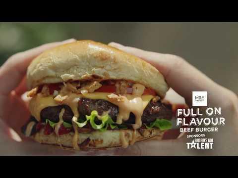 M&S Food & Britain's Got Talent    Flavour Beef Burger