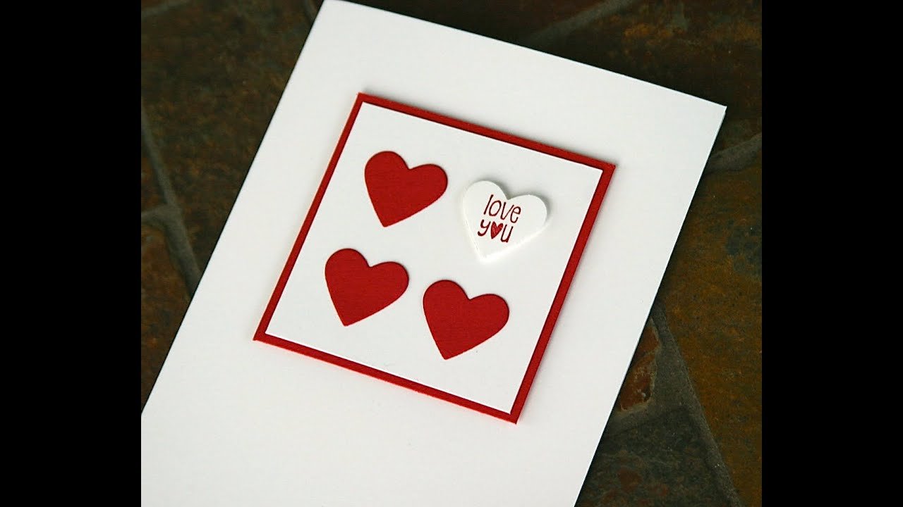 stampin up valentine cards youtube