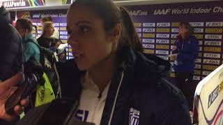 Δηλώσεις Κατερίνα Στεφανίδη στη μεικτή ζώνη μετά τον τελικό στο Μπέρμιγχαμ