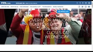 2018 FIFA World Cup Ticket Information