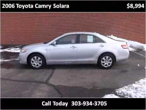 2006 toyota camry solara used cars denver co youtube. Black Bedroom Furniture Sets. Home Design Ideas