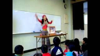 紙芝居師なっちゃん紙芝居公演2012年3月2日藤沢市立村岡小学校