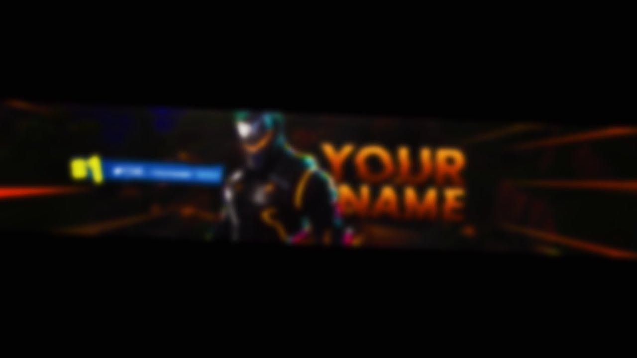 Fortnite Battle Royale Omega Skin Youtube Banner Template Youtube