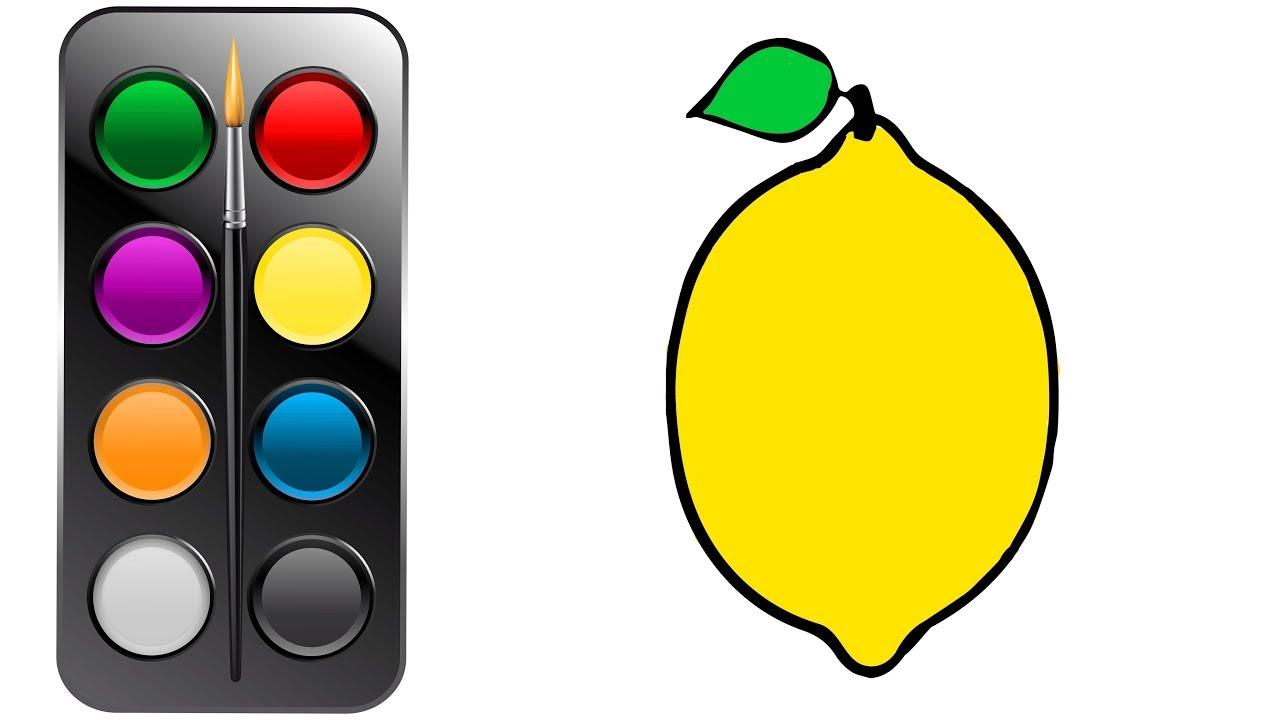 Cómo Dibujar Y Colorear Limón Dibujos Para Niños Learn Colors