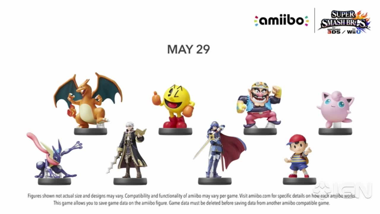 super smash bros for wii u wave 5 and 6 amiibo figures from