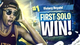 MY FIRST SOLO WIN! I ALMOST CHOKED! Fortnite Battle Royale