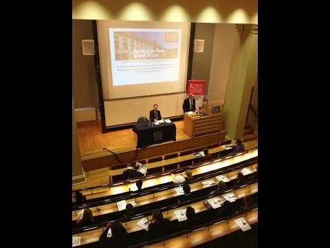 Professor David Mosey's inaugural lecture at The Dickson Poon School of Law, King's College London.