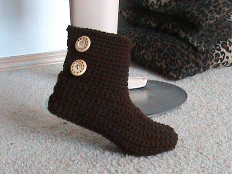Crochet Glama's 40 In 40 Bootie Slipper Tutorial Super Easy For Enchanting Crochet Boot Pattern