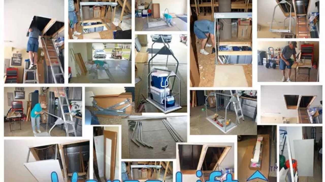 Diy do it yourself attic lift youtube solutioingenieria Images