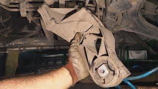 замена задней опоры двигателя (подушки) на Mercedes Vito 638