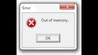 COMO TIRAR O ''ERRO'' OUT OF MEMORY [CF/AL]