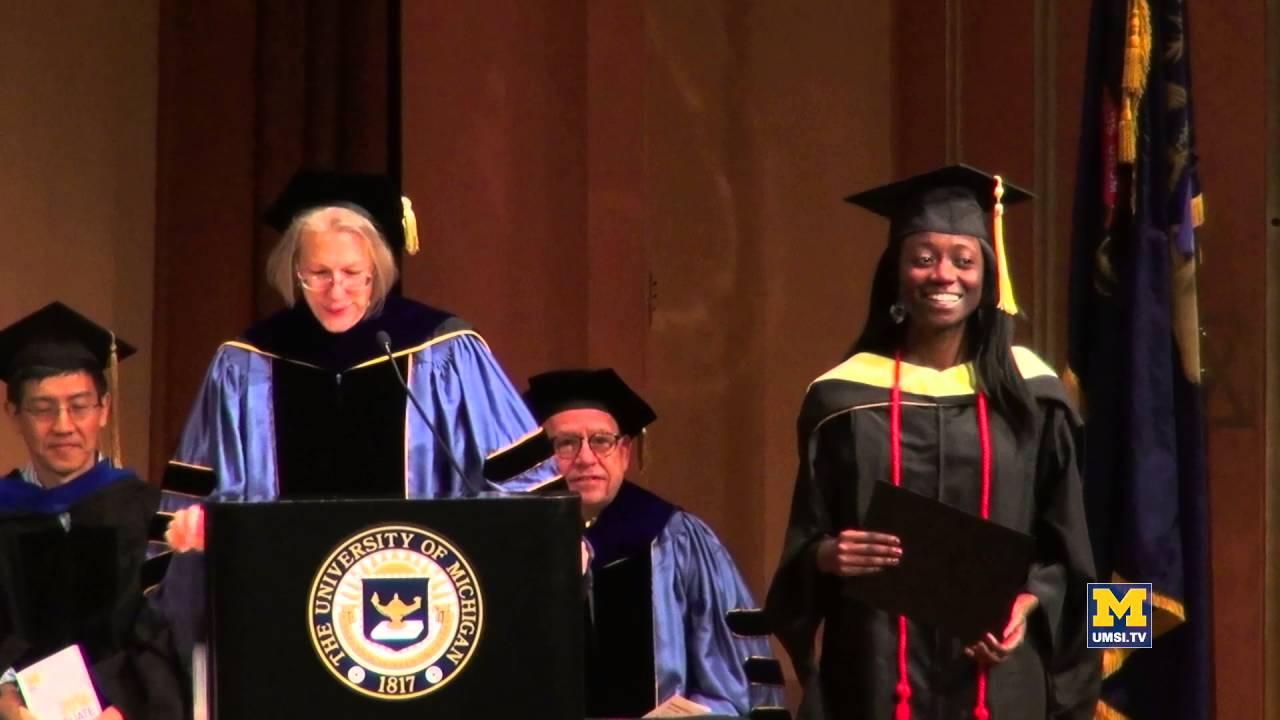 UMSI graduation: Student award presentations - YouTube