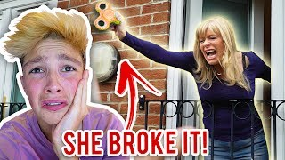 *GOLD* FIDGET SPINNER TOY DESTROYED BY MOM!!! (World's Rarest GOLD Fidget Spinner)
